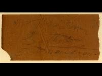 Certificato di garanzia datato 12 aprile 1900, rinvenuto ai giorni nostri dietro un vecchio cassettone