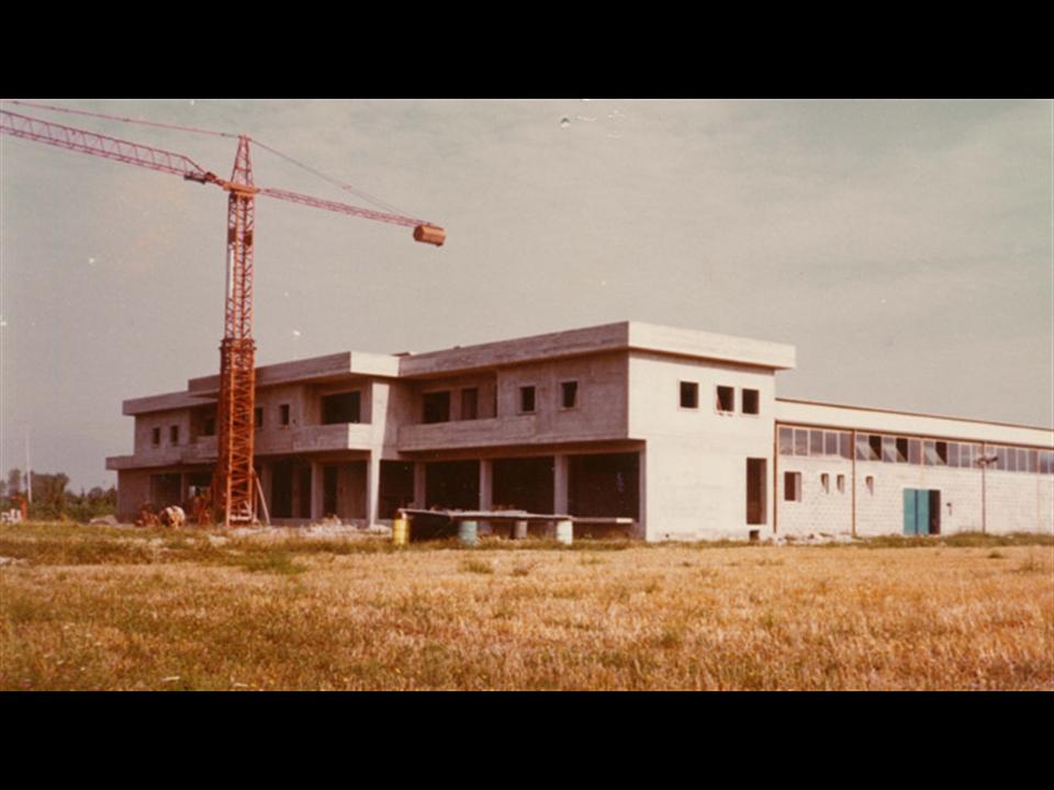 Storia - Il nuovo complesso produttivo e commerciale di Fighille verso la conclusione dei lavori.